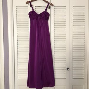 BCBG Maxazaria tie front floor length dress size 0